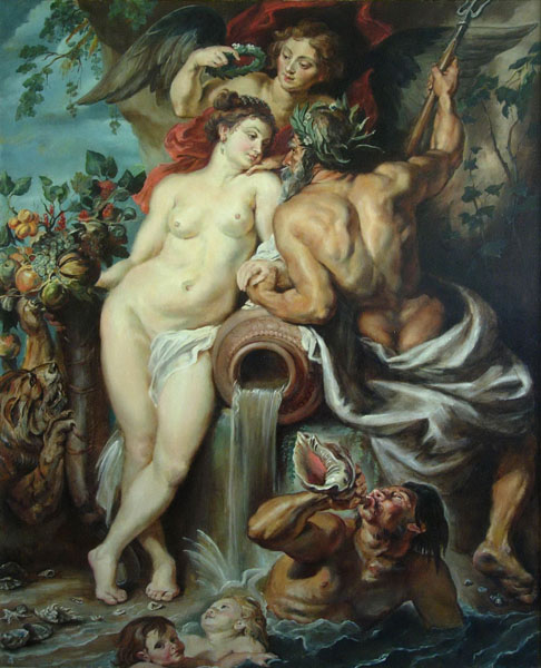The copy  of the Rubens's painting   The Union of Earth and Water, 120x150 sm, oil on canvas 2010