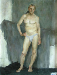 Male Figure 45x60 sm, oil on canvas, 2006