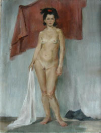 Female Figure 45x60 sm, oil on canvas, 2006 �.