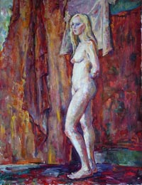 Female Figure 70x92 sm, oil on canvas, 2011