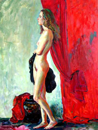 Female Figure 70x92 sm, oil on canvas 2011, not available