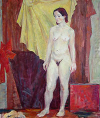 Female Figure 99x77 sm, oil on canvas, 2011