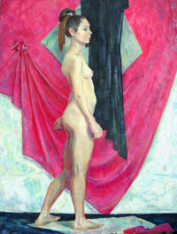 Female Figure120x90 sm, oil on canvas, 2011