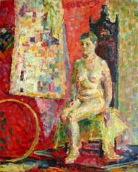 Female Figure 40x50 sm, oil on canvas, 2009