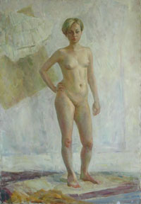 Female Figure 90x130 sm, oil on canvas, 2010