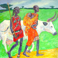 Masai 120x120 sm, oil on canvas, 2011�.