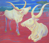 The Bulls 120x110 sm, oil on canvas, 2012