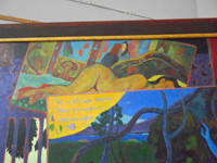 "Fragment of Diploma ""Paul Gauguin"" triptych  180x500sm, oil on canvas, 2013"
